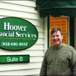 David Hooever in front of his financial services business