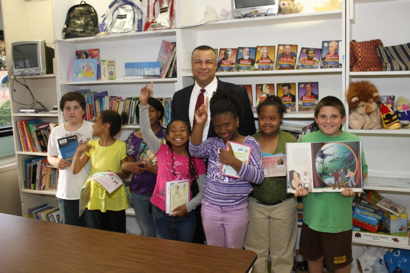 Rick Brown volunteers his time helping with childhood literacy.